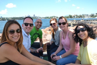 Resmed corporate team building celebrations on Cockatoo Island