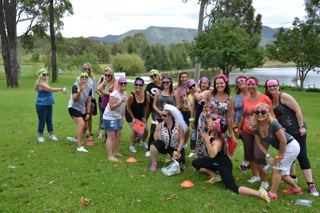 Hunter Valley Team Building Activities groups playing games in the Vines with Wines