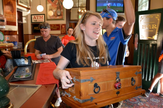 Visit The Australian heritage pub in The Rocks, Sydney. where a secret treasure hunt chests can be found