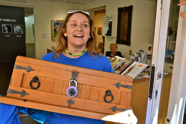 treasure hunts chest found on Manly Beach near the Corso, Novotel