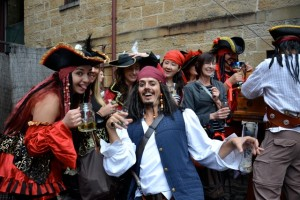 treasure hunts pirate jack sparrow in the rocks sydney