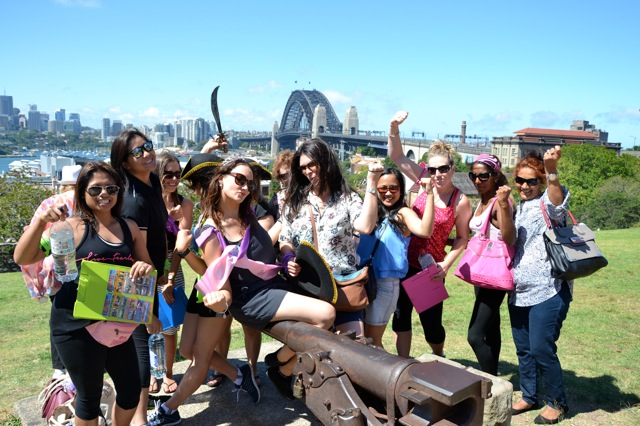 Sydney Hens Activities fun Group Treasure Hunting