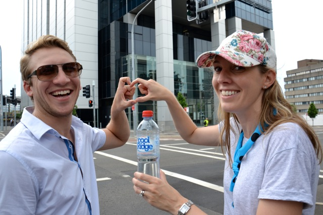 Sydney Water Team Building treasure hunt in Parramatta showing the love of water