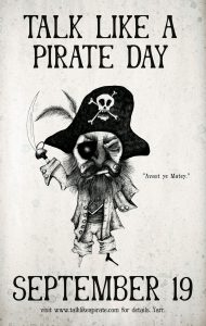 talk like a pirate day in Sydney on a treasure hunt for fun pirates 19th September