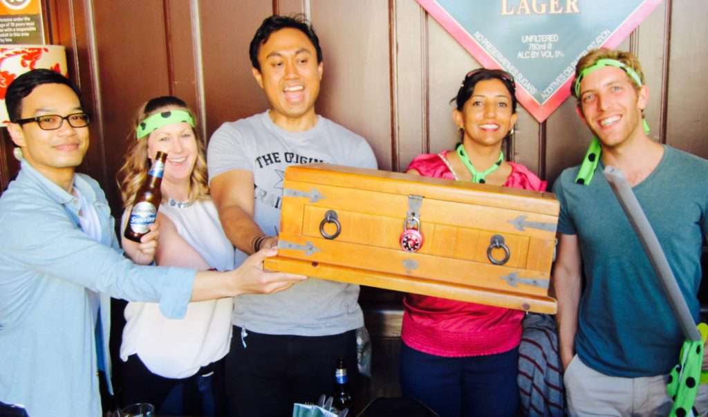 rocks treasure hunt chest found in sydney team building activities