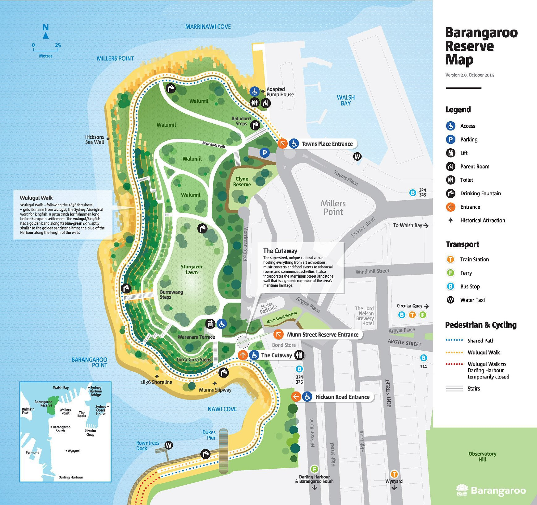 Barangaroo Treasure Hunting Map of the Sydney headland reserve