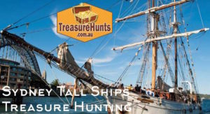 Historic Tall Ship Sailing Treasure Hunts on Sydney Harbour for Activity Groups