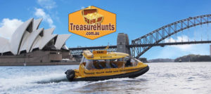Sydney Harbour Water Taxi Treasure Hunts on board boats